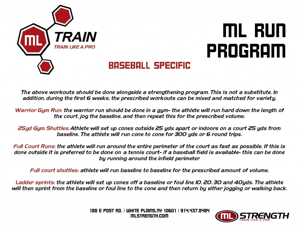 Chad Moeller Baseball Running Program