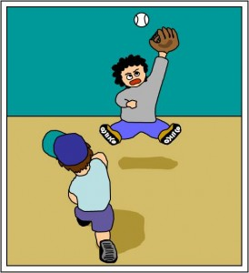 playing-catch-baseball-pregame-drill