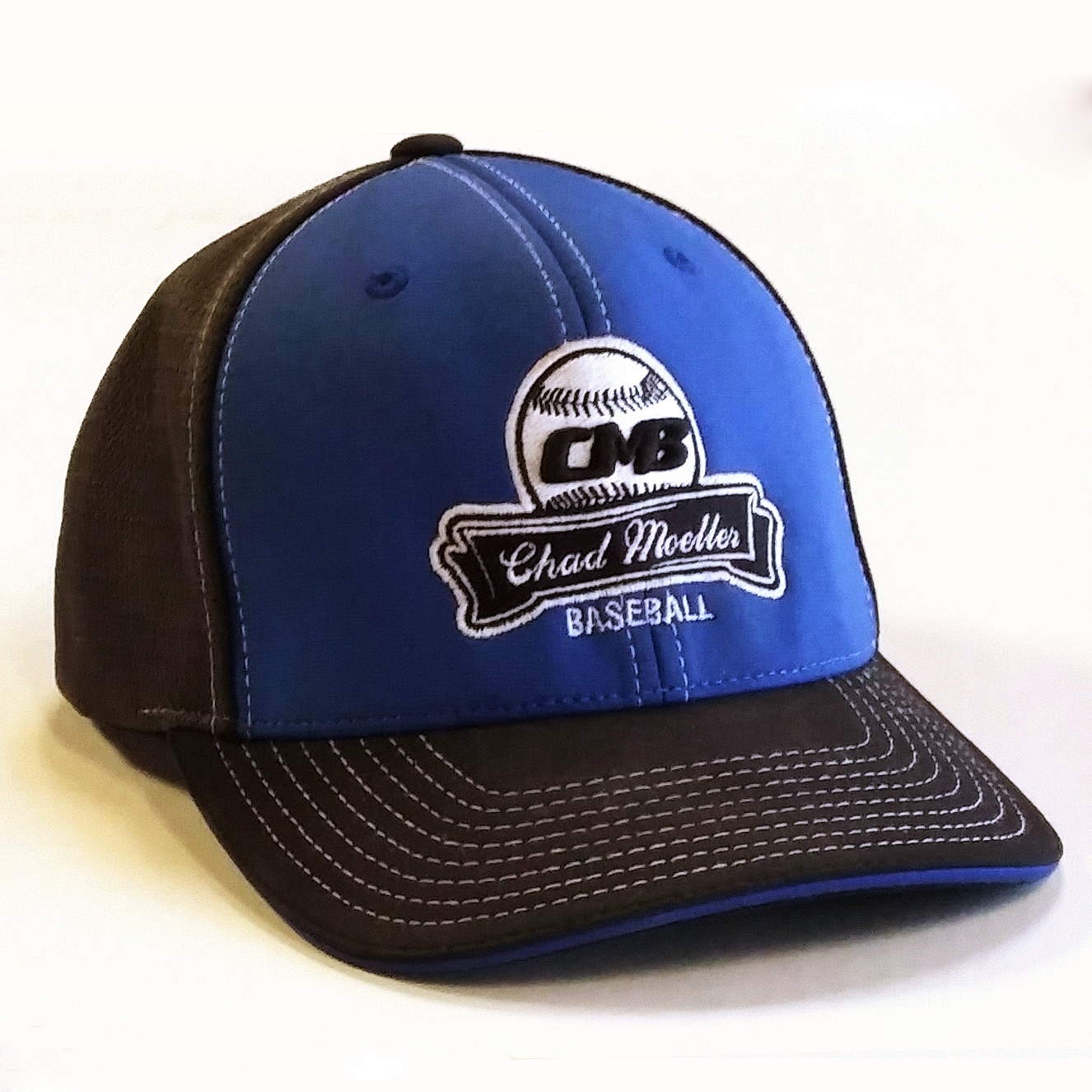 CMB Logo Hat, Blue and Dark Gray